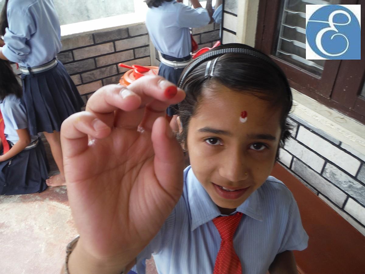 Halfway point of the Les Elfes volunteer trip in Nepal