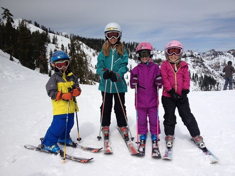 Skiing activity during winter