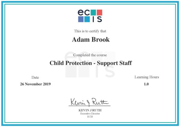 ecis - Child Protection page