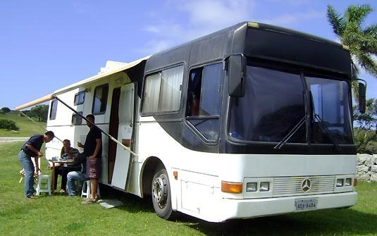 Campground With A Motorhome