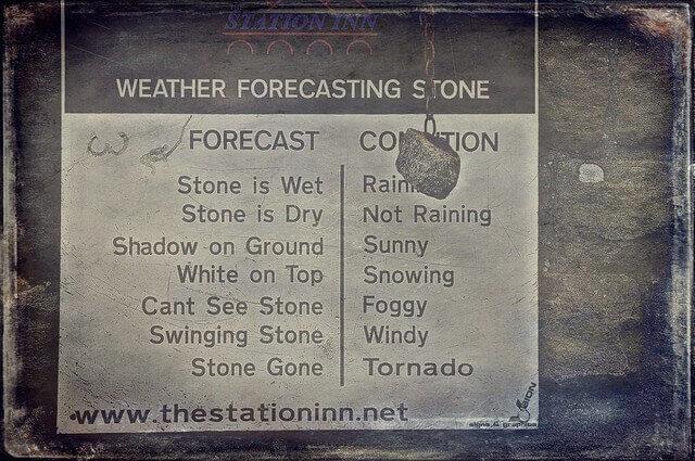 Weather Forecast Stone