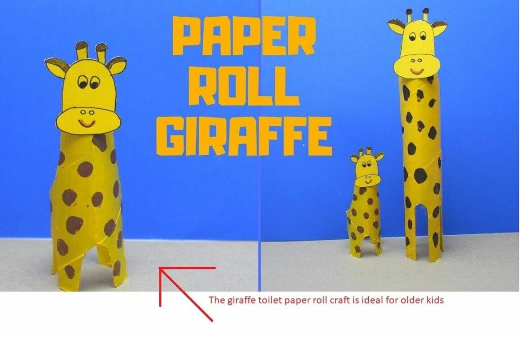 Giraffe Toilet Paper Roll Crafts