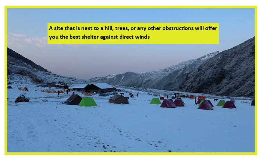 the Right Snow Camping Site