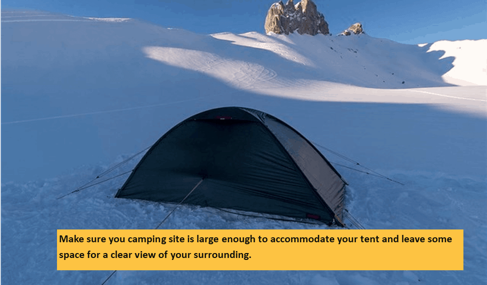 Building Your Tent in Winter Camp