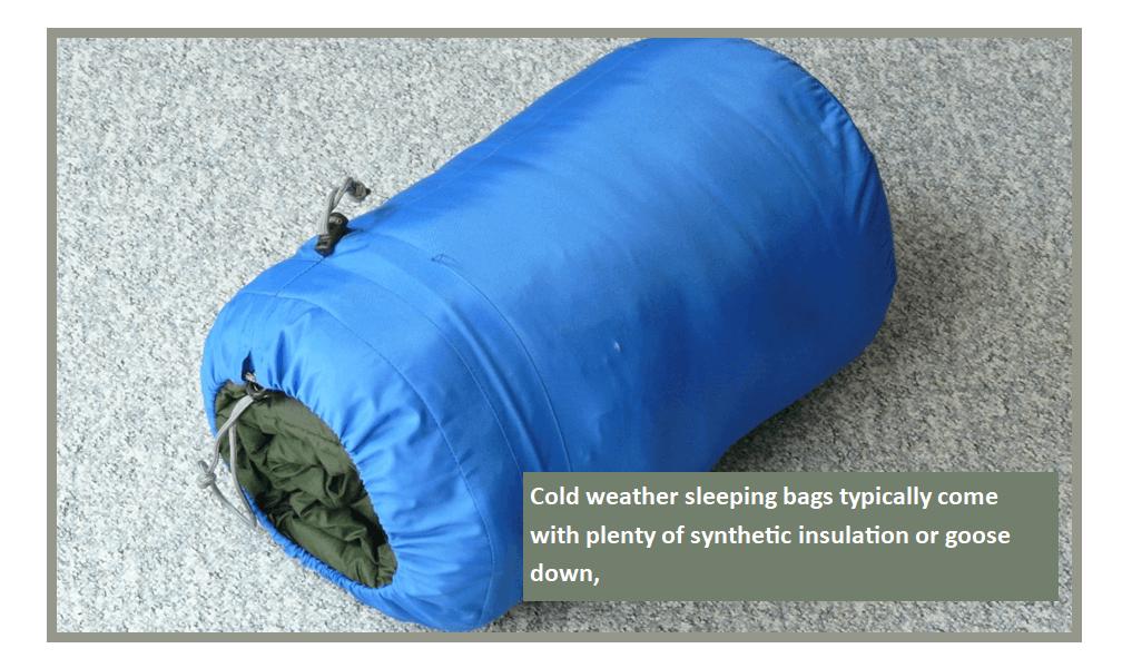 Sleeping Bags in Winter Camp
