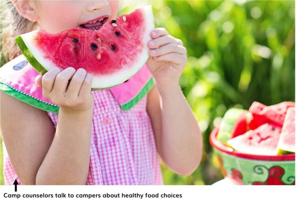 Healthy Food Sessions at Summer Camp