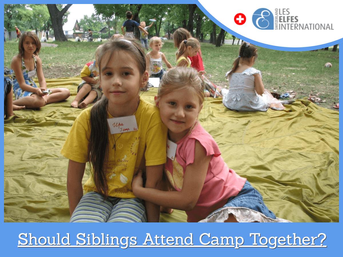 Siblings attend camp