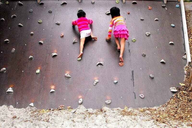 Wall Climbing At The Onsite Gym