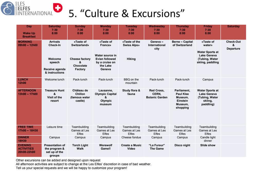 Culture & Excursions