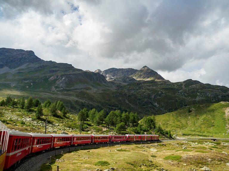 Red Bernina Express